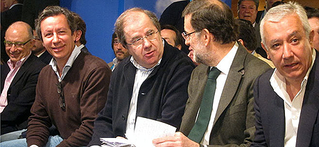 imagen de este sbado de Herrera junto a Rajoy (TribunaSalamanca)